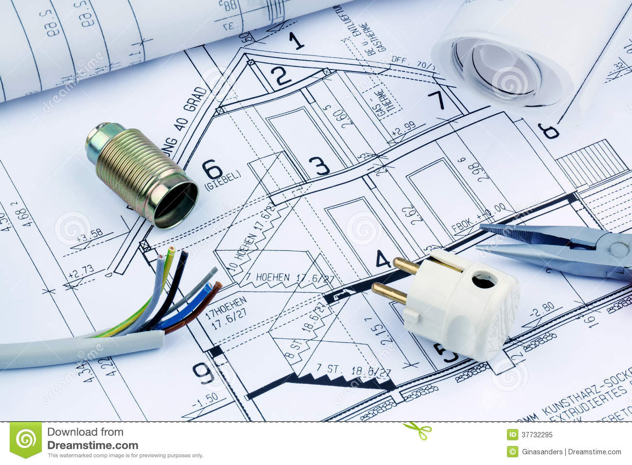 Blueprint for a house electrical stock image image of blueprint for a house electrical malvernweather Choice Image