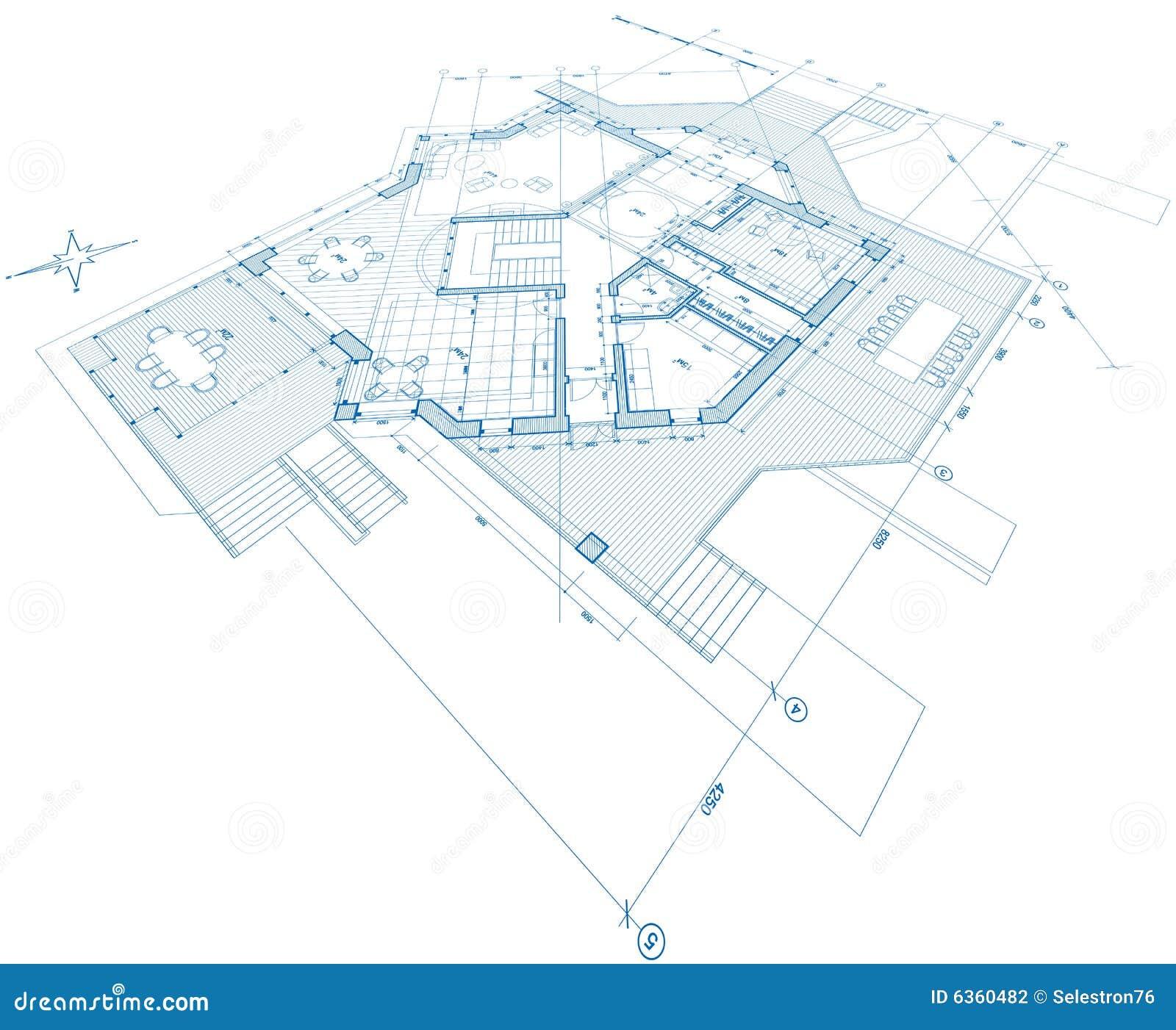 Blueprint house plan stock vector illustration of sketch 6360482 blueprint house plan sketch construction malvernweather Images
