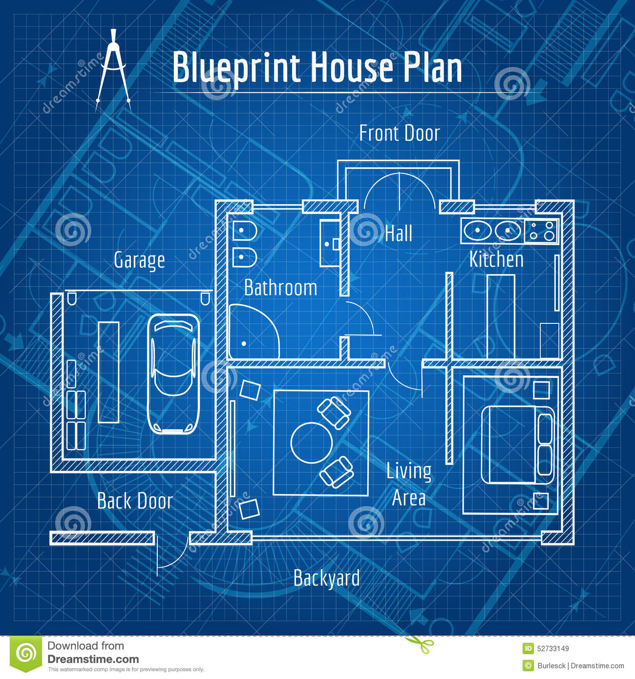 blueprint for houses blueprint house plan stock vector image of flat house 52733149 1070