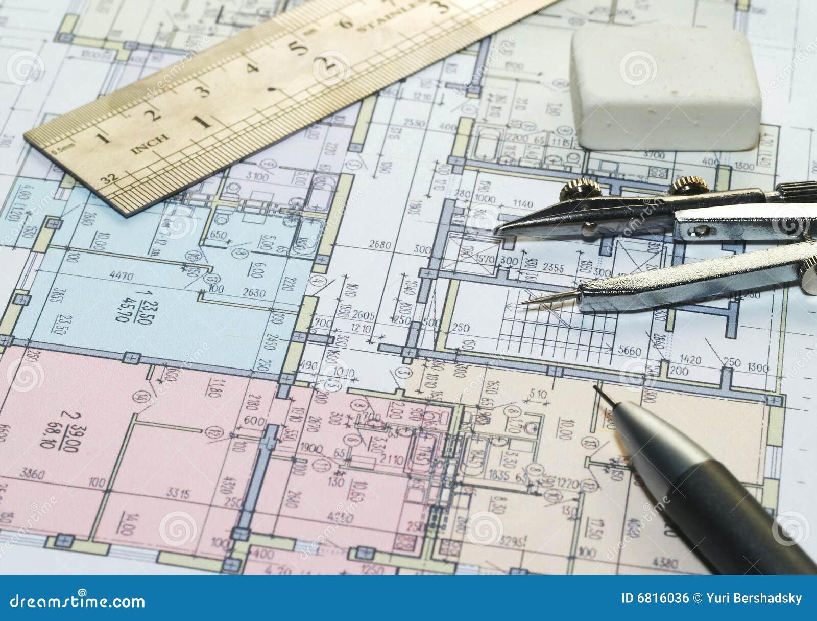 blueprint of house plans royalty free stock image image 6816036