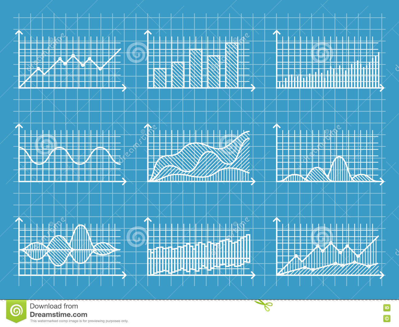 Blueprint infographic line graphs and charts template for blueprint infographic line graphs and charts template for presentation report business design vector illustration malvernweather Images