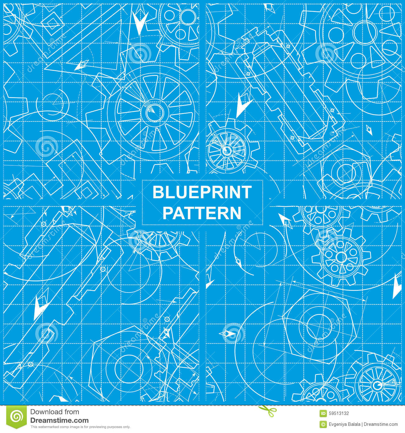 Blueprint pattern stock vector illustration of abstract 59513132 download comp malvernweather Gallery