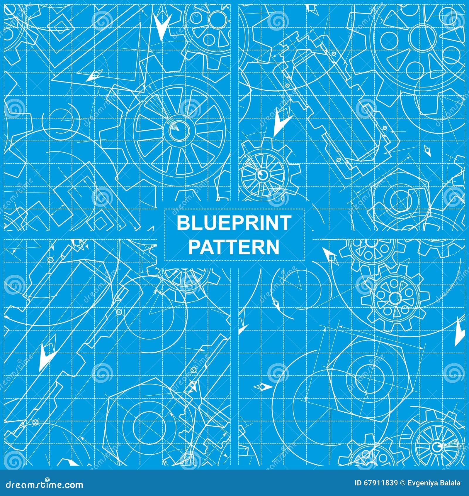 Blueprint pattern stock vector illustration of architecture blueprint pattern malvernweather Images