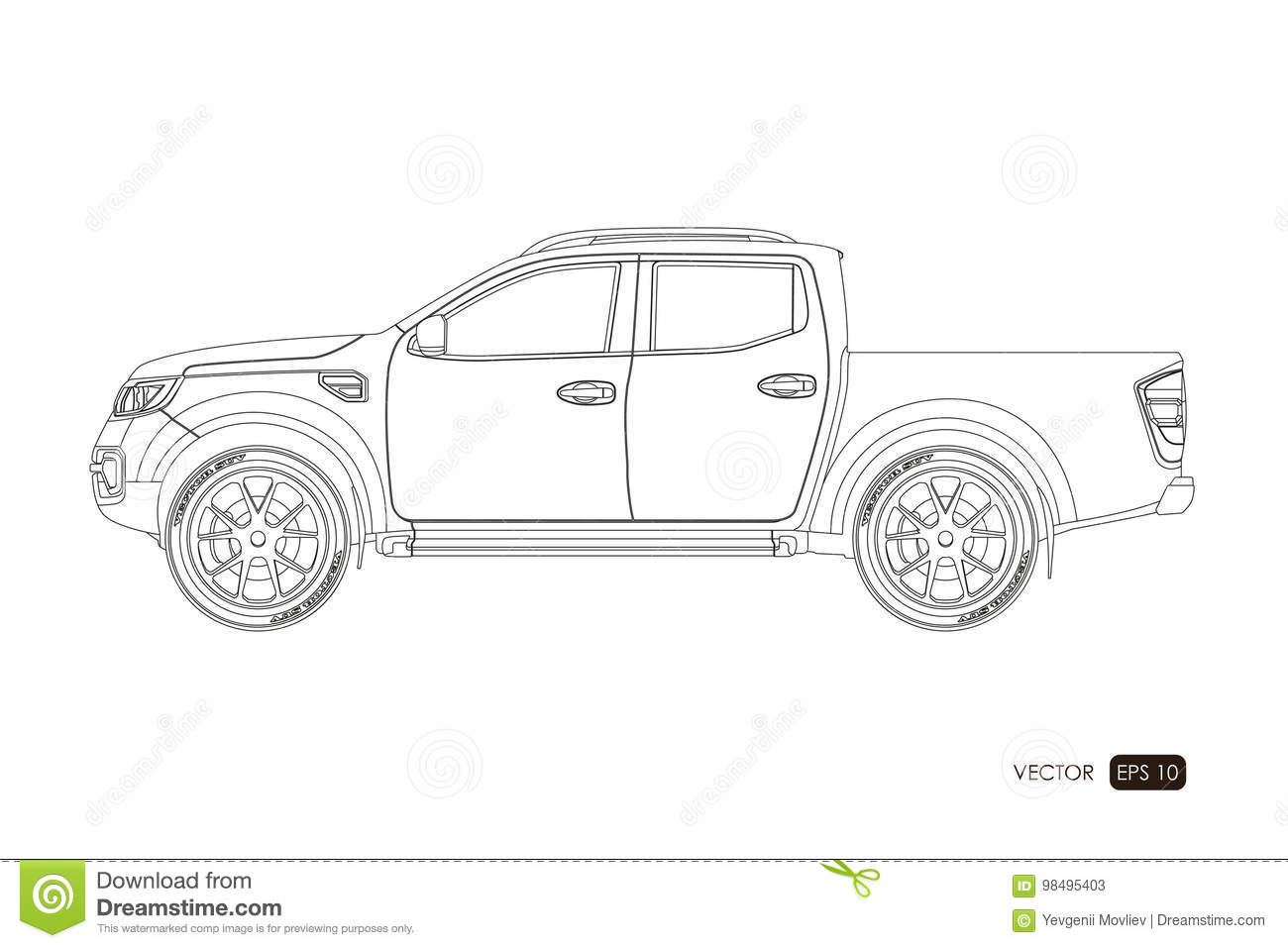 This is a picture of Unforgettable Drawing Front Of Pick Up Truck