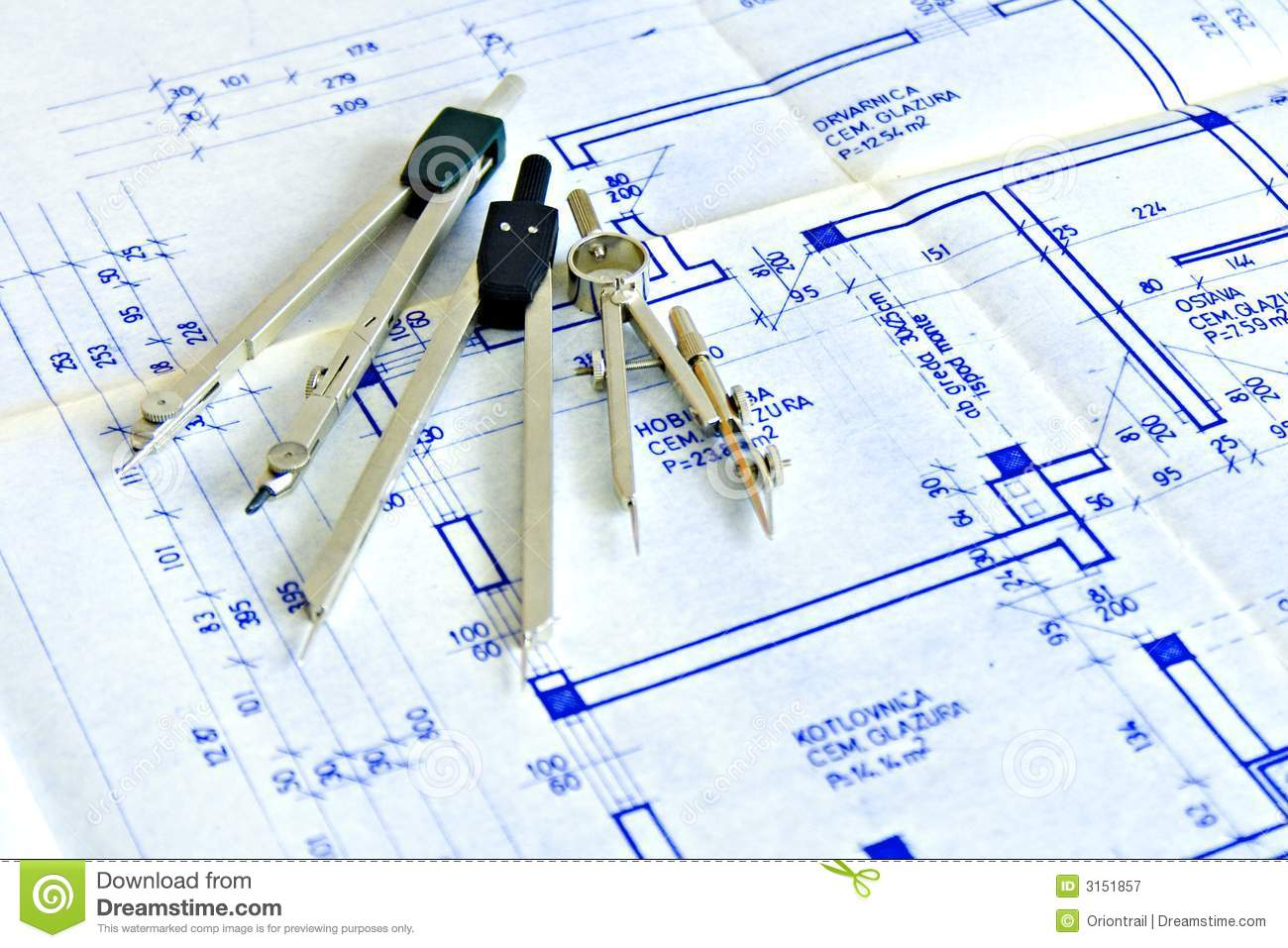 Blueprint and tools royalty free stock photography image for Online architecture design tool
