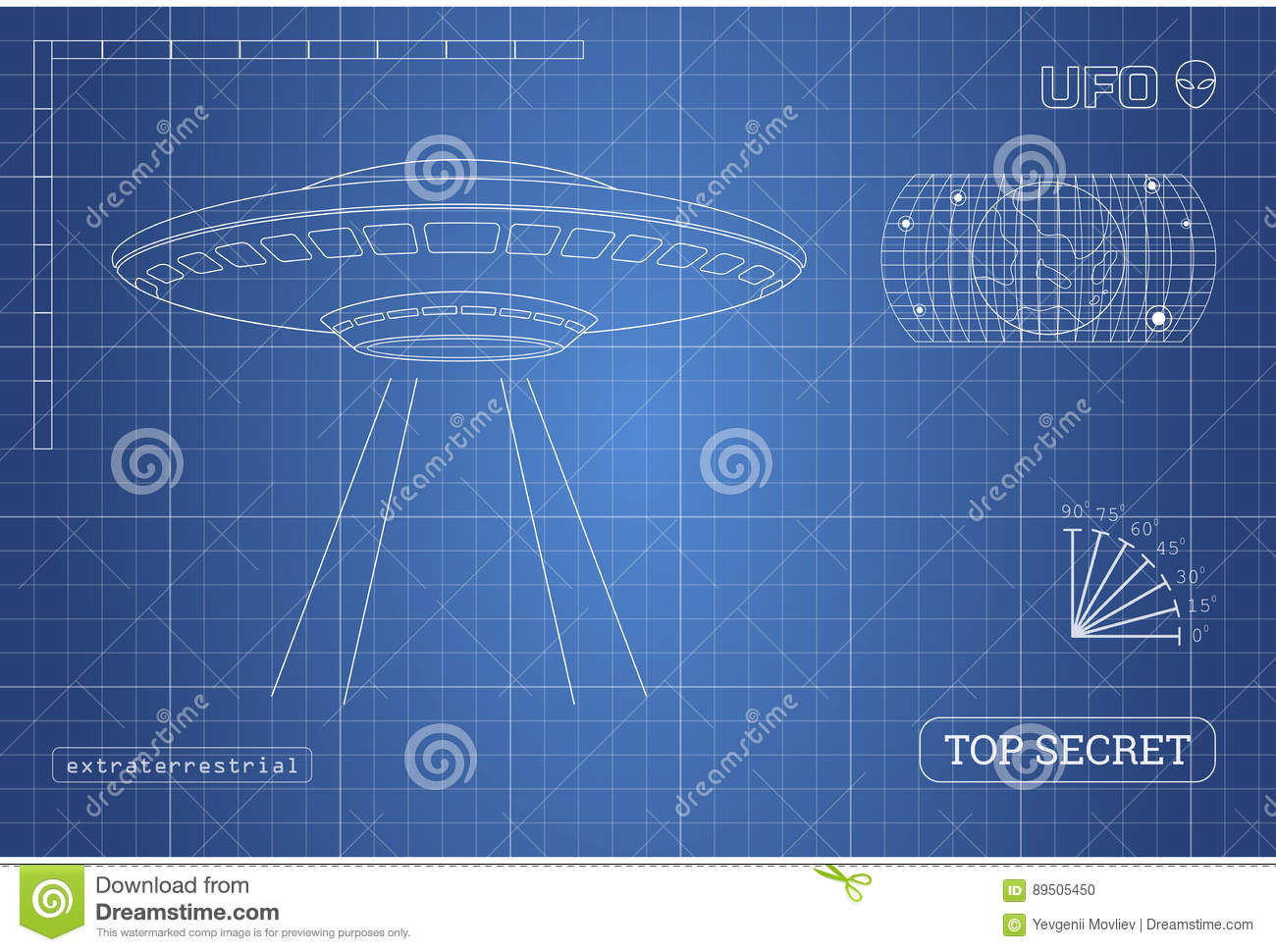 Blueprint of ufo technical document with the drawing of alien blueprint of ufo technical document with the drawing of alien spaceship malvernweather Choice Image