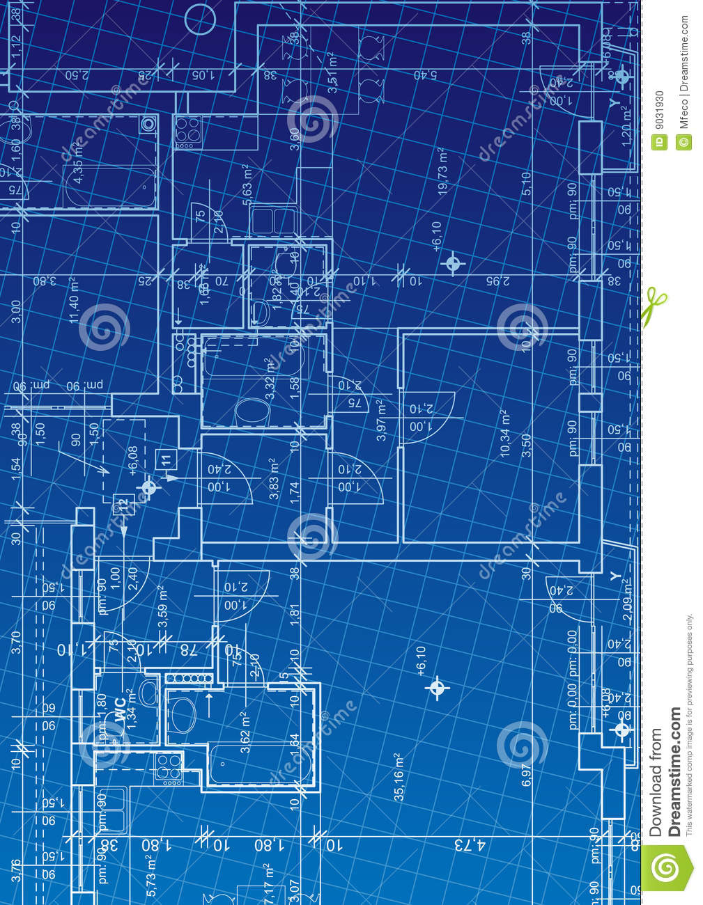 Blueprint vector stock vector illustration of house architectural blueprint vector malvernweather Choice Image