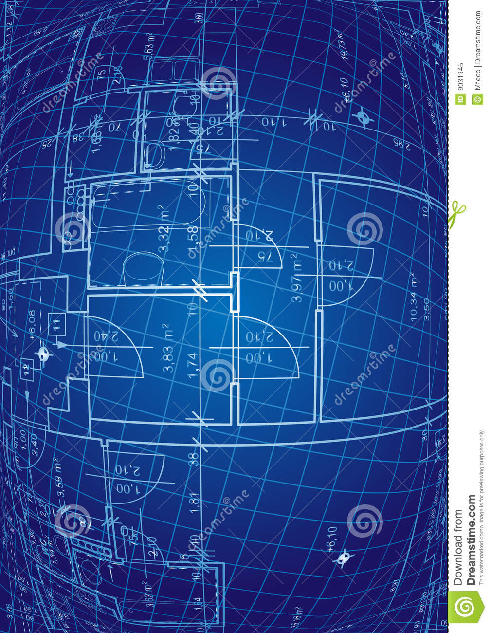 Blueprint vector stock vector image of layer construction 9031945 blueprint vector malvernweather