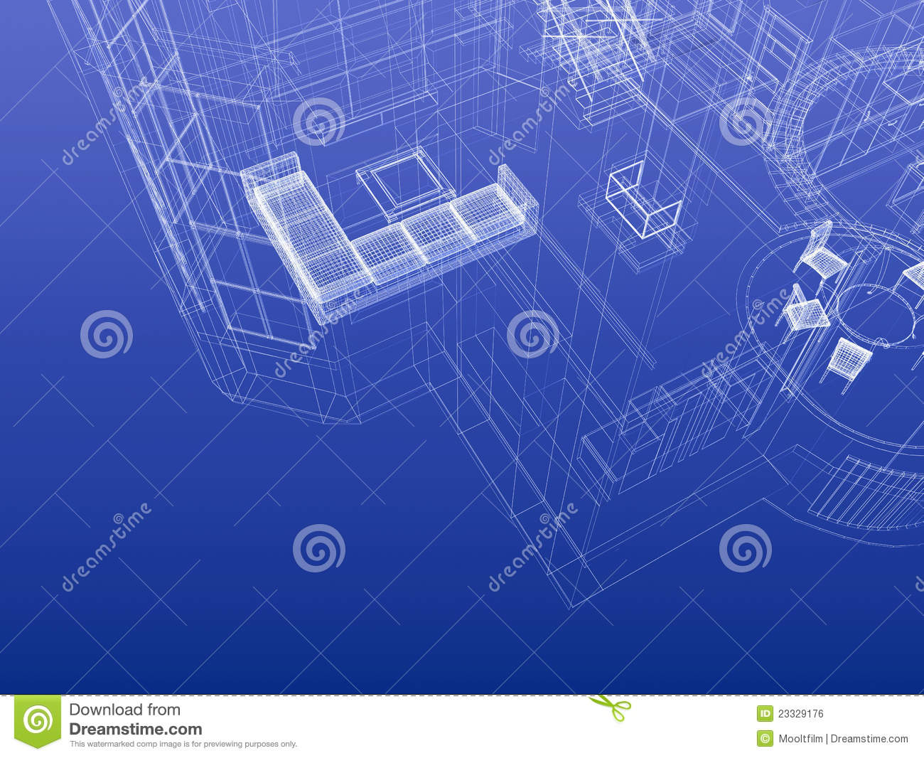 Blueprint wireframe stock illustration illustration of blueprint blueprint wireframe malvernweather Choice Image