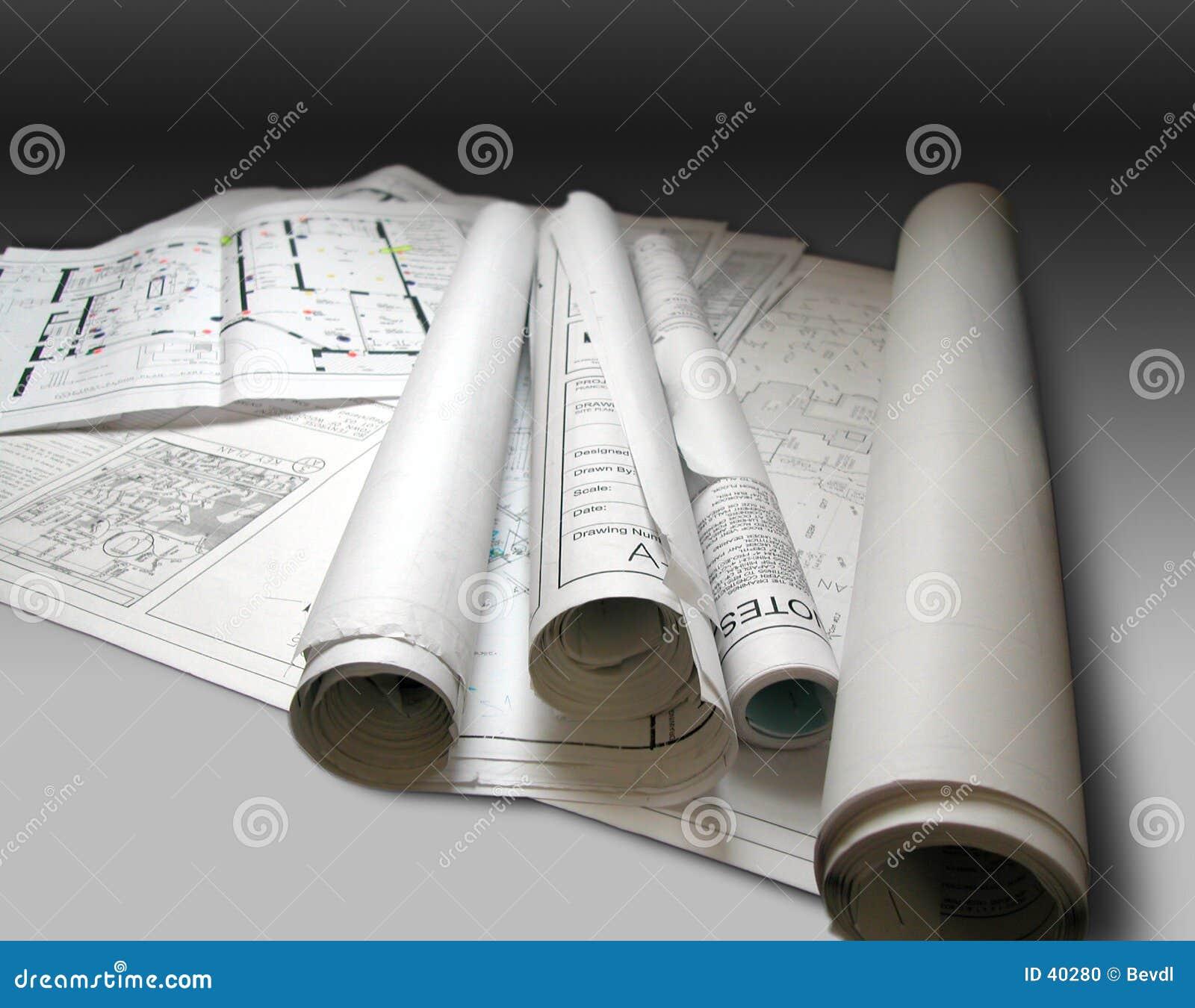 Download Blueprints stock photo. Image of blueprint, building, idea - 40280