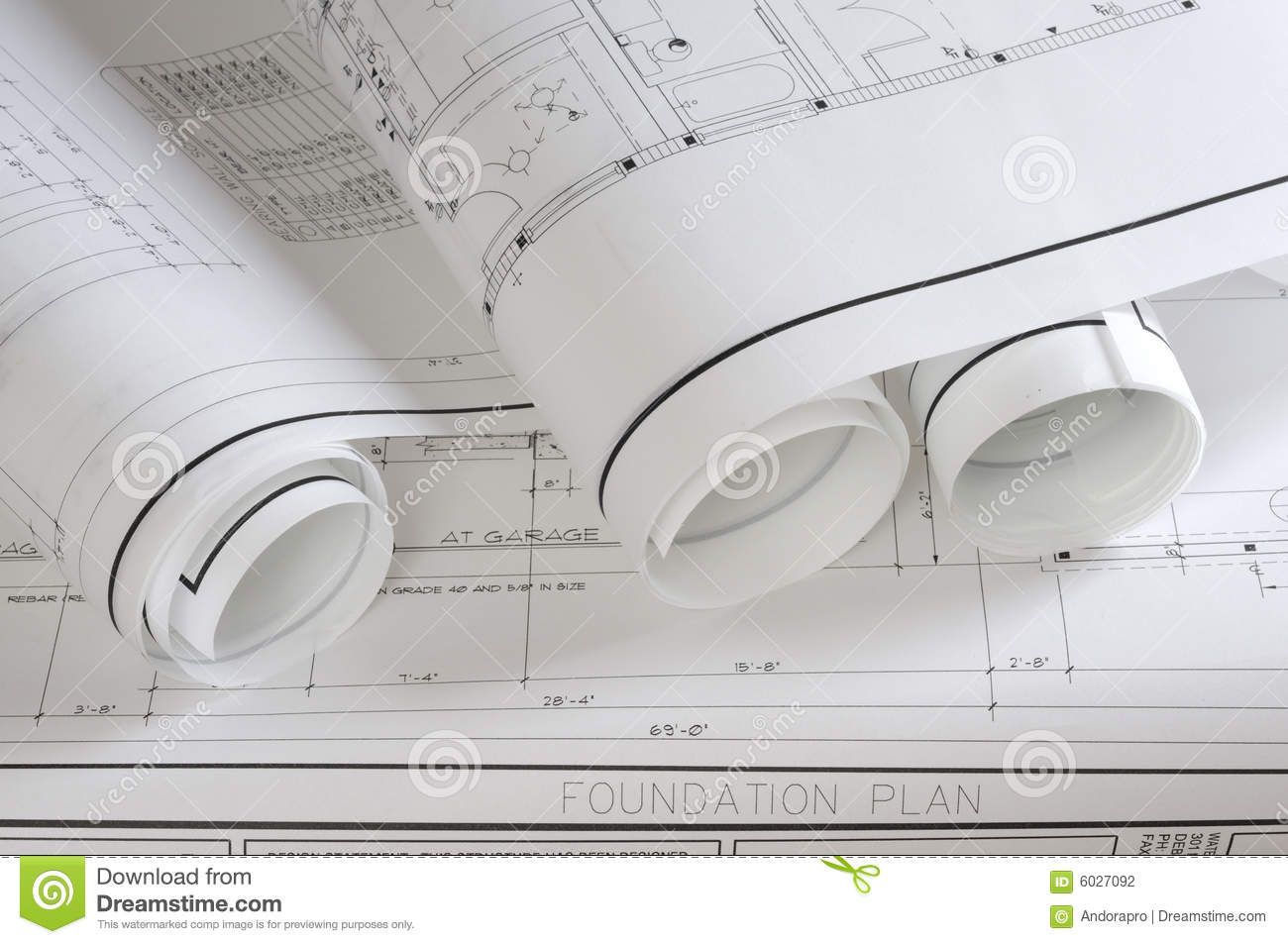 Blueprints stock photography image 6027092 for How to read foundation blueprints