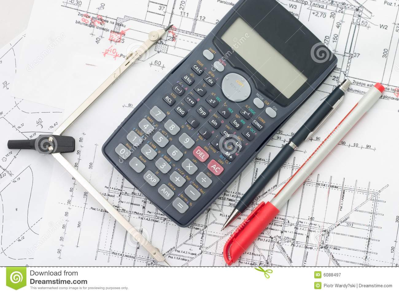 Blueprints Royalty Free Stock Photography Image 6088497