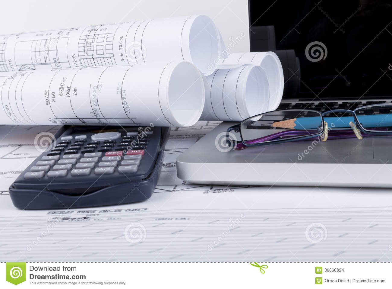Blueprints stock images image 36666824 for Blueprint estimator