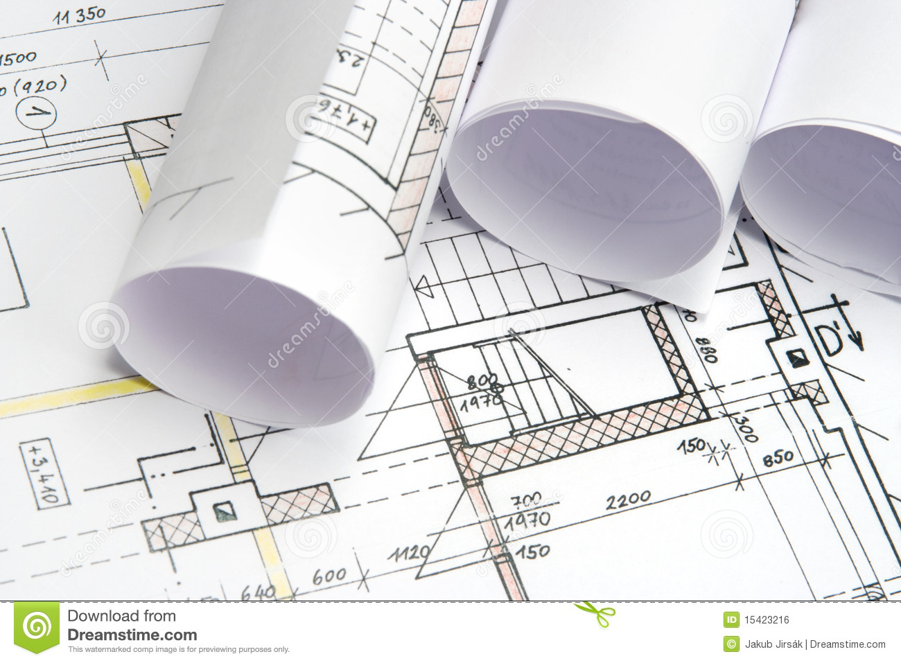 Blueprints of architecture royalty free stock image for Blueprint architects