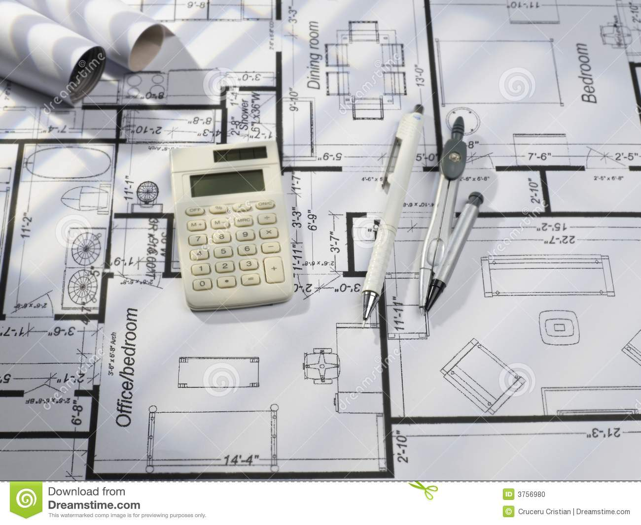 Blueprints series stock photo image 3756980 for Blueprint estimator