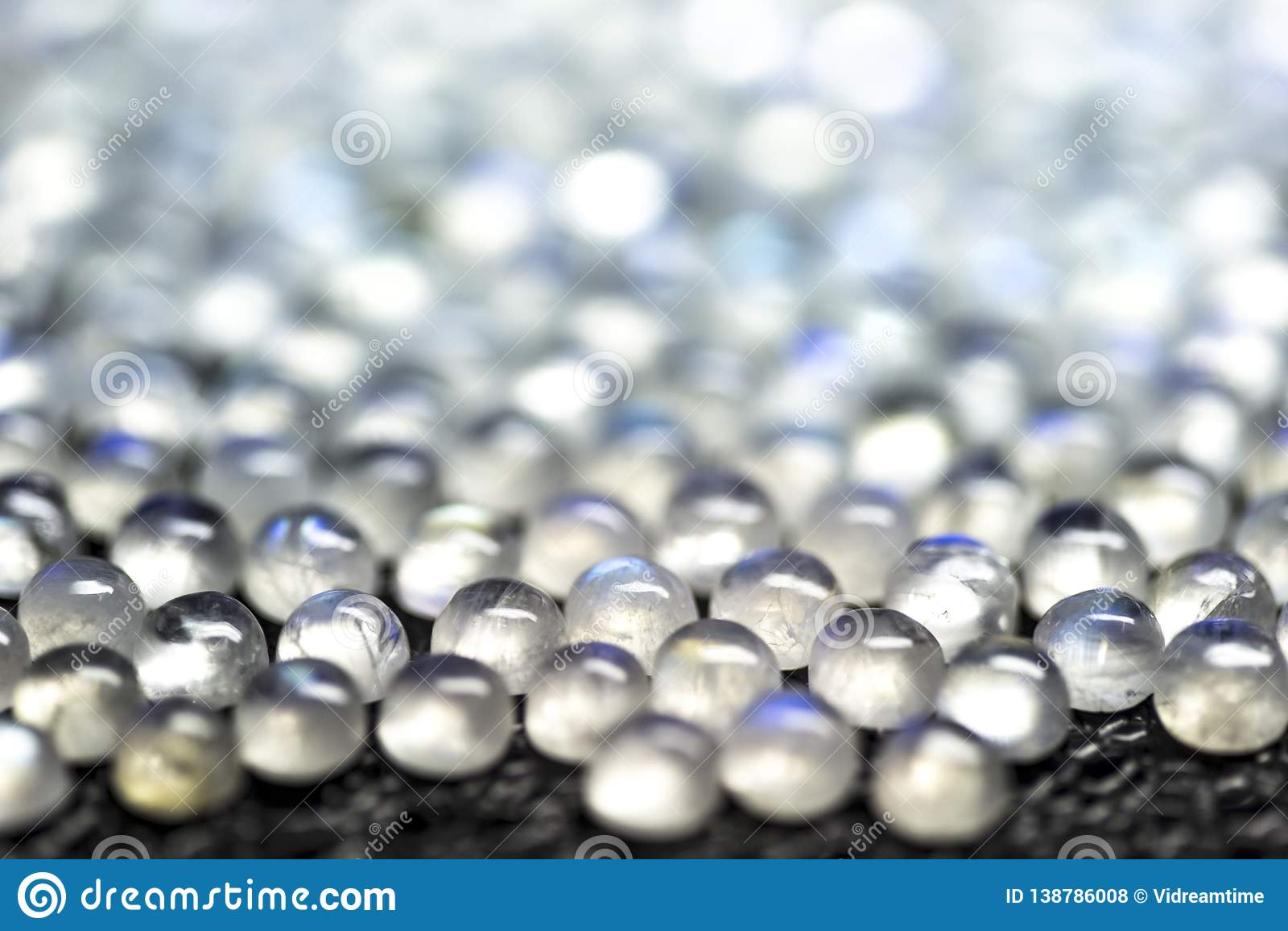 Bluered photo Gemstones Rainbow color Moonstones