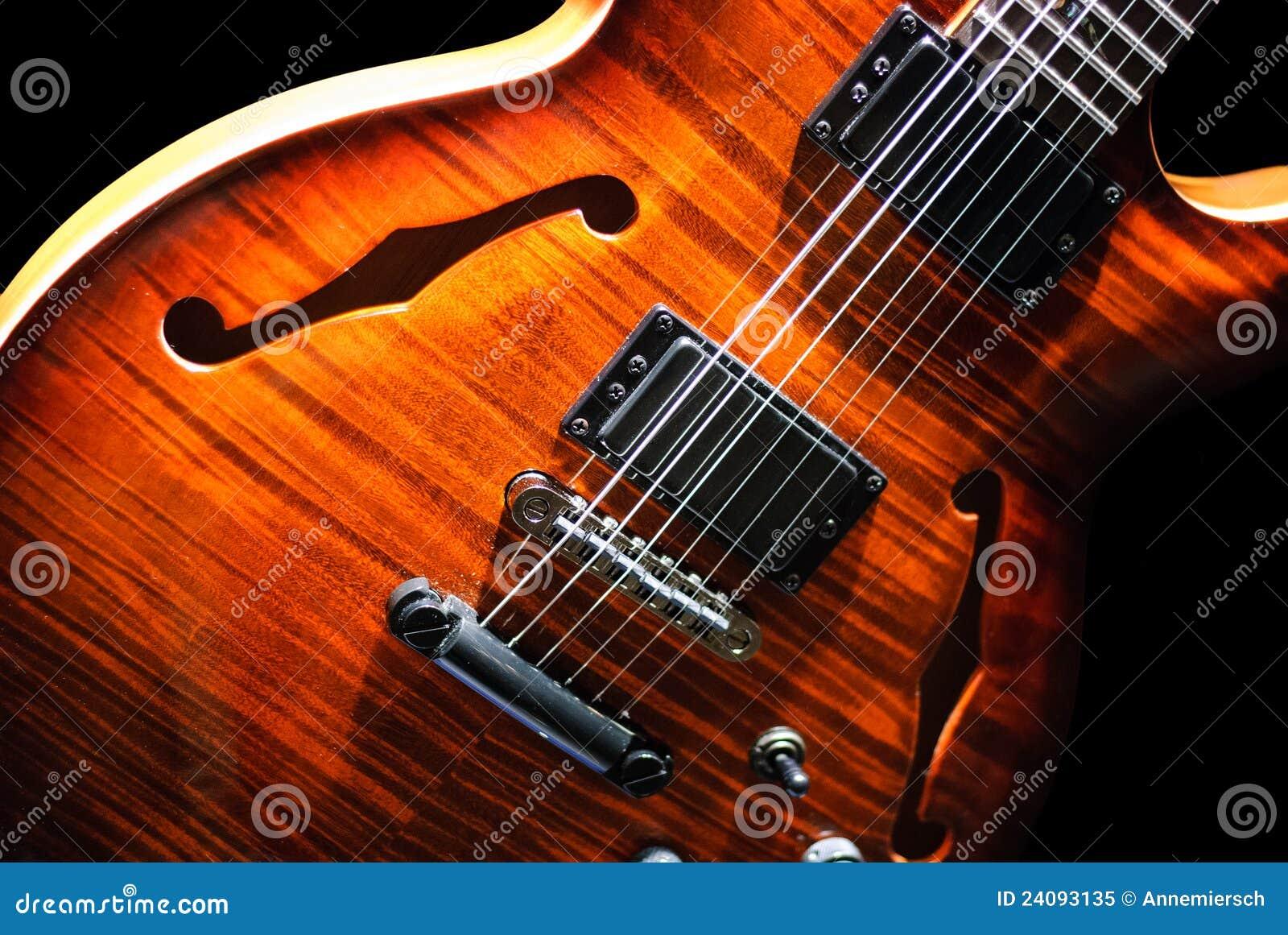 Blues guitar on black