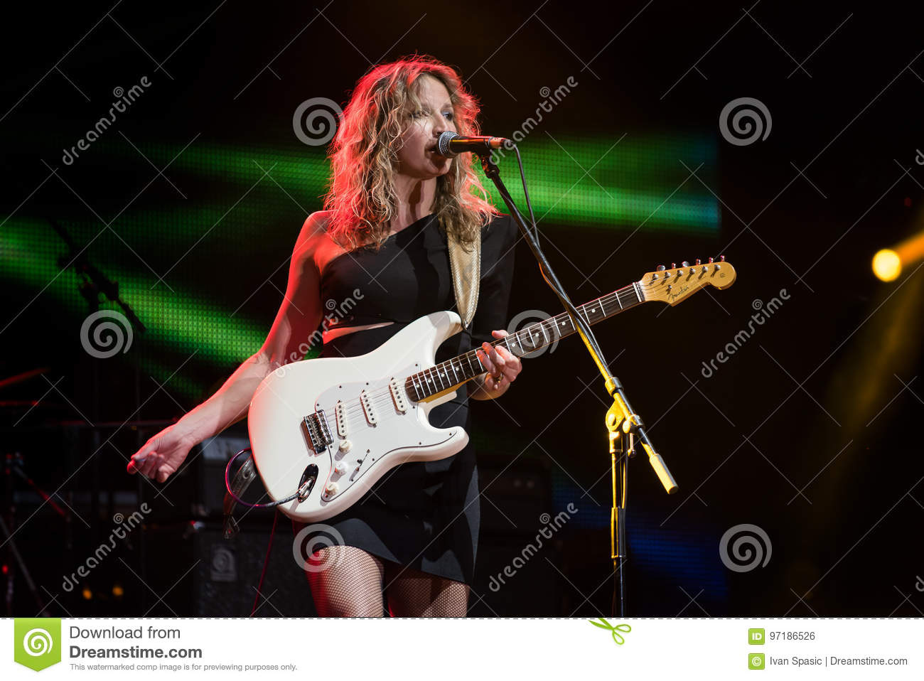 Blues guitarist and singer Ana Popovic performing live at Arsenal Fest, June 23. 2017