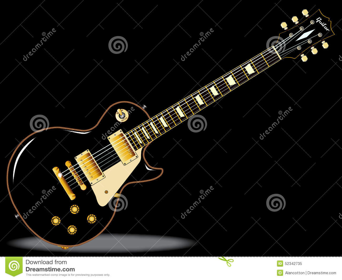 Blues Guitars Stock Illustration - Image: 52342735