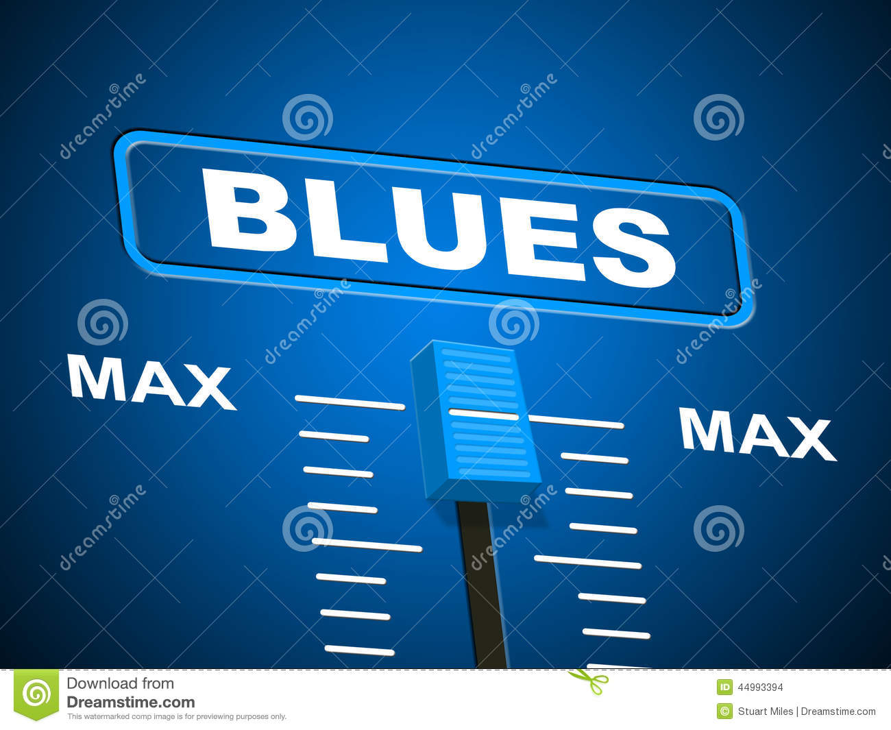 Blues Music Represents Sound Track And Amplifier Stock ...