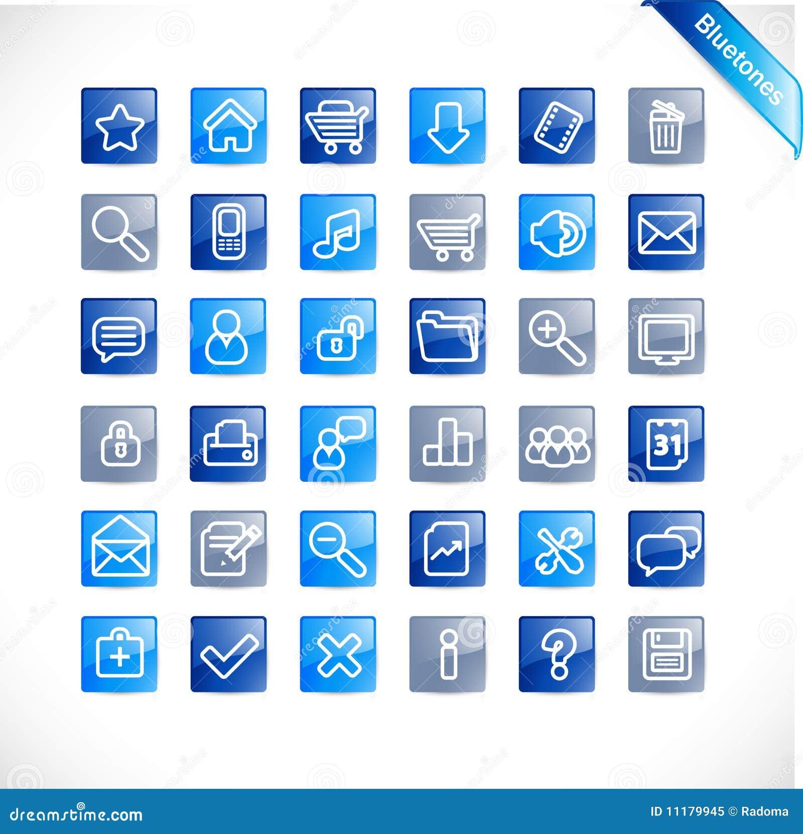Bluetones - new web icon set