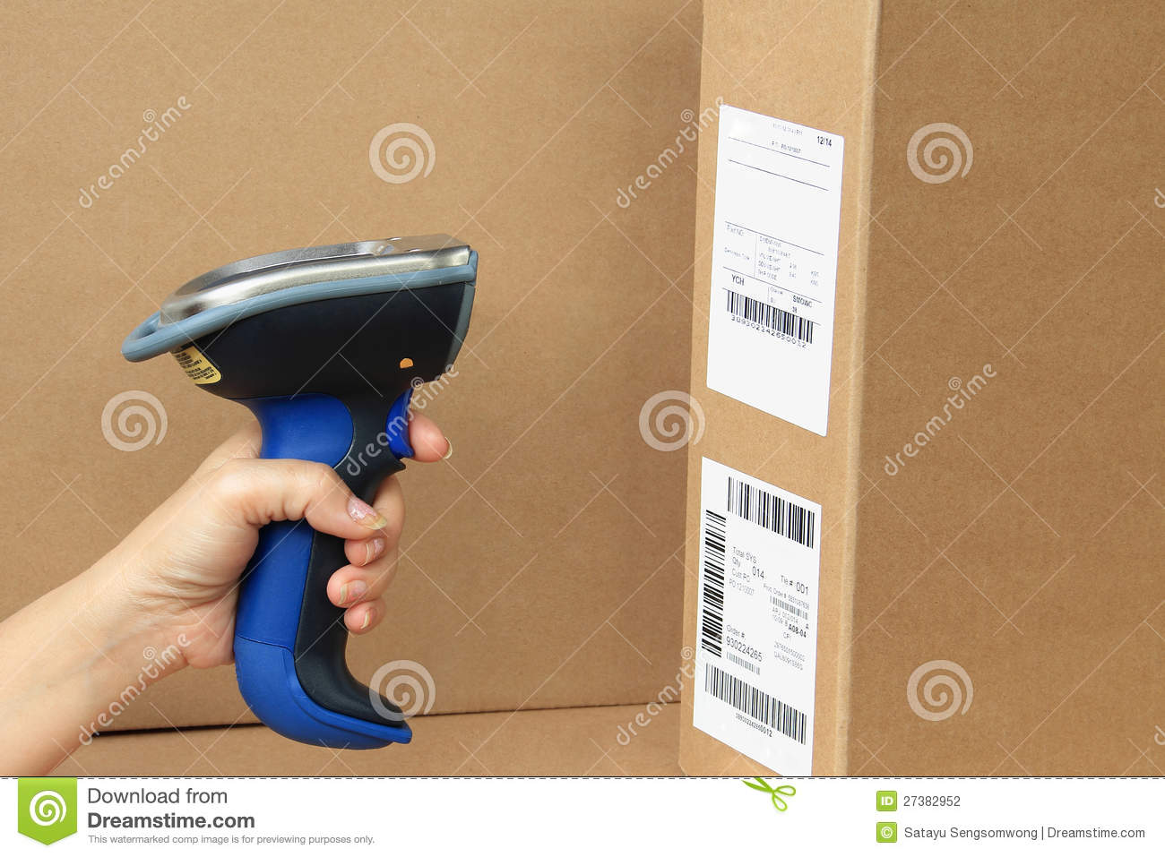 Bluetooth Barcode And Qr Code Scanner Stock Photography