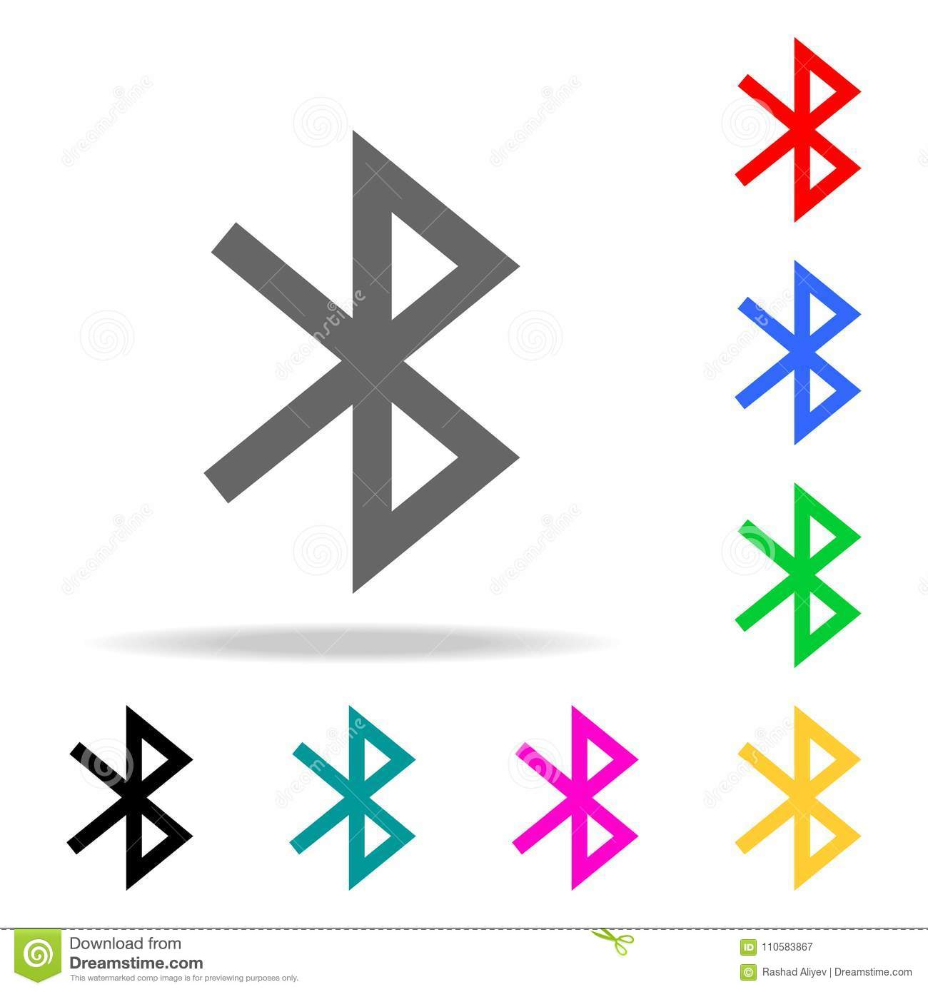 Bluetooth Icon  Sign Design  Elements In Multi Colored Icons