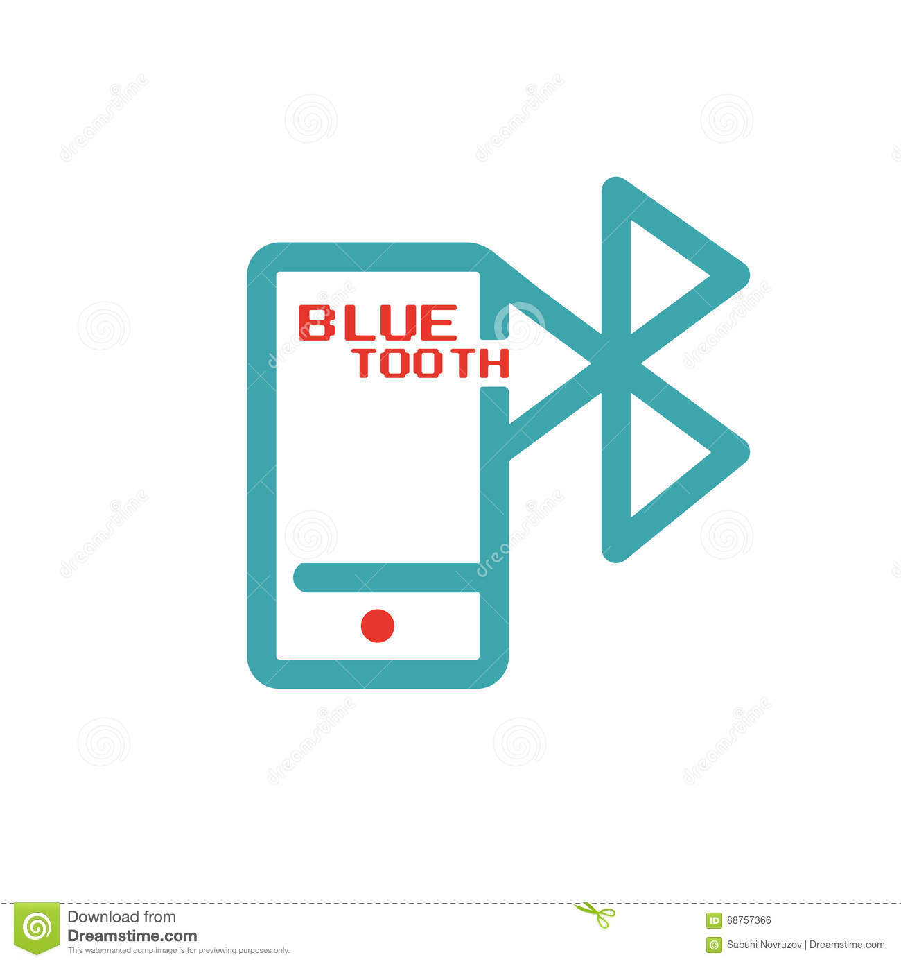 Bluetooth Icon On Smartphone Touchscreen Vector Ilustration