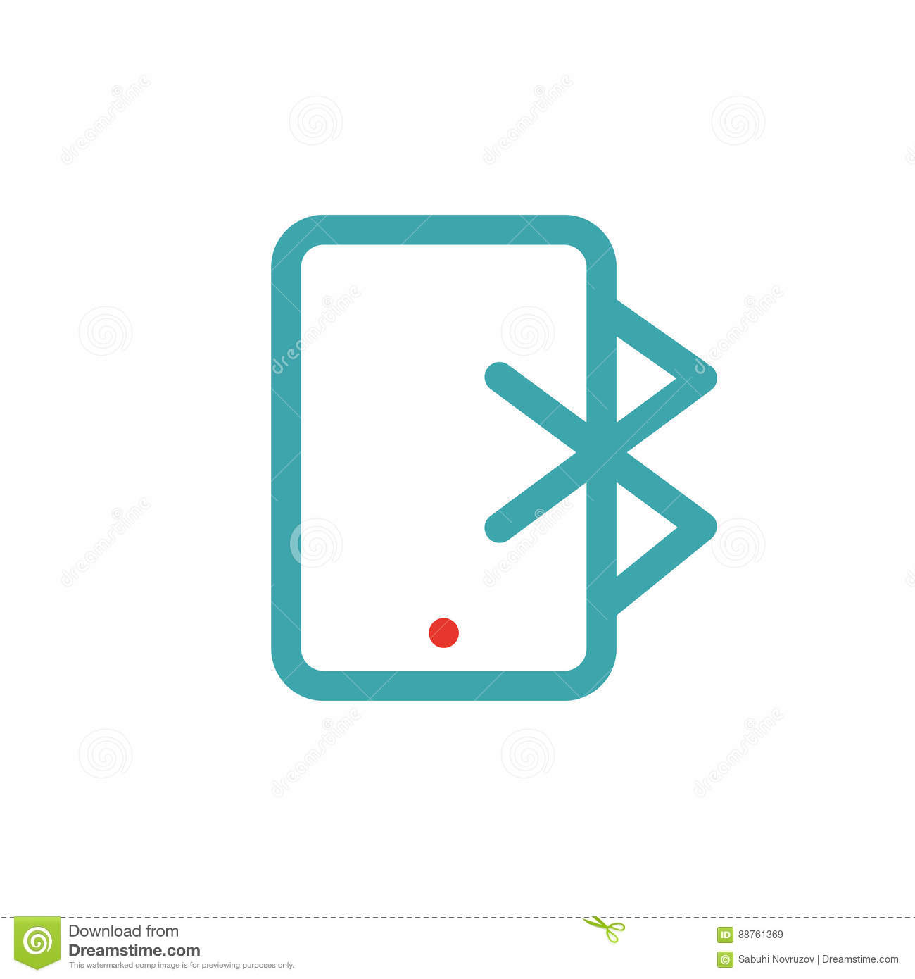 Bluetooth Icon On Tablet Laptop Vector Ilustration Editorial Stock