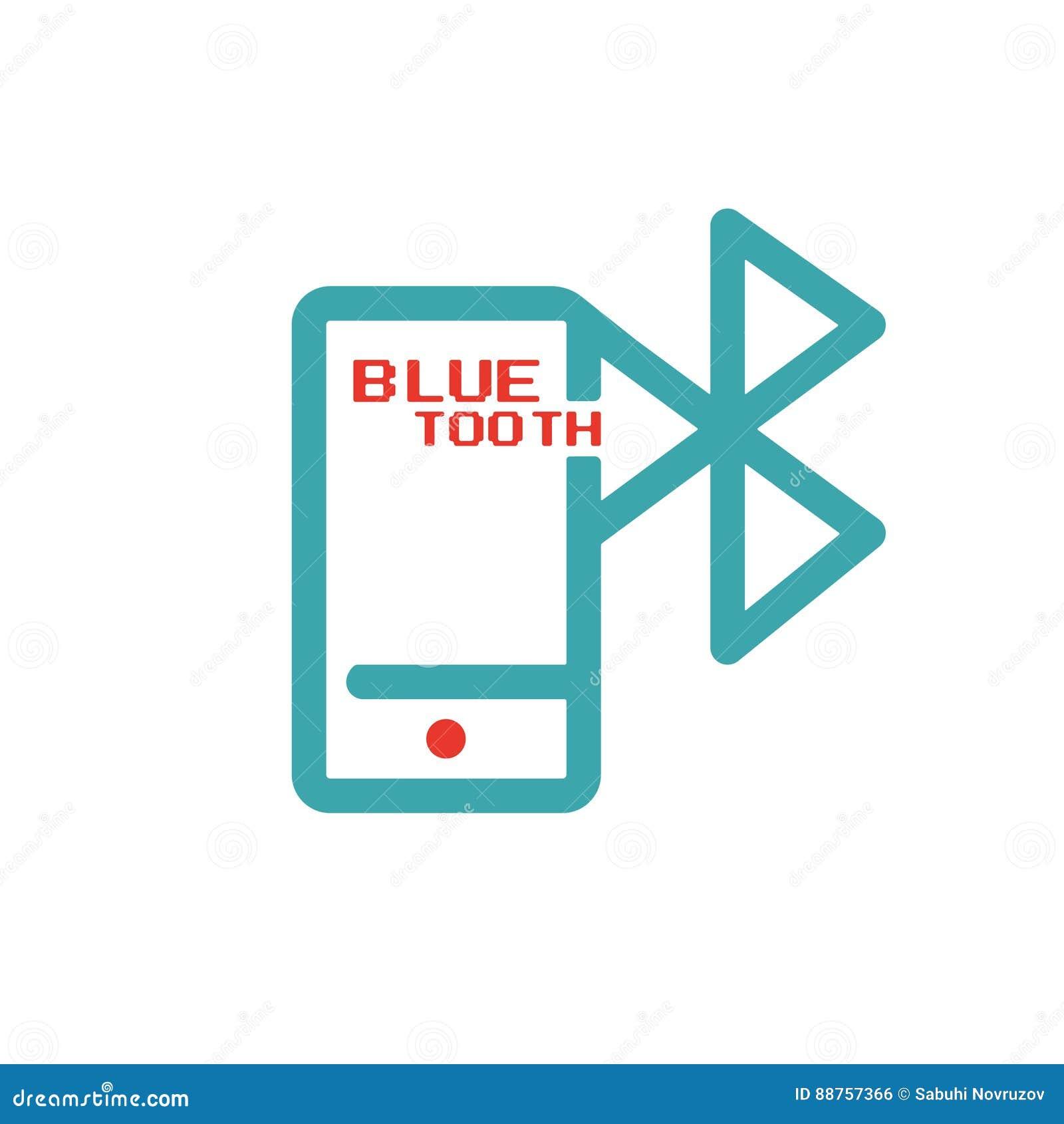 Bluetooth ikona na smartphone ekranu sensorowego wektoru ilustration