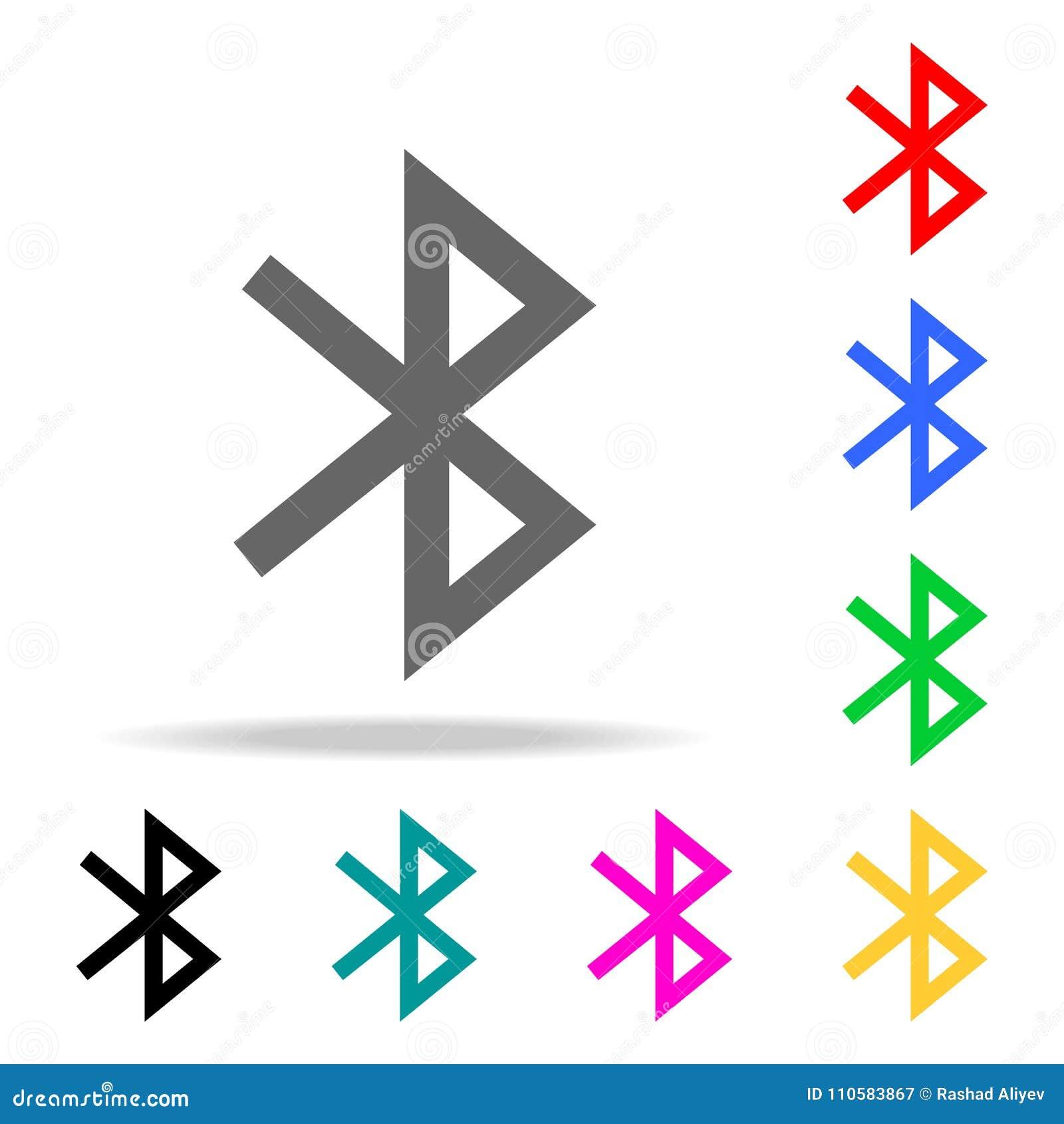 Bluetooth-Ikone Zeichendesign Elemente in den multi farbigen Ikonen für bewegliche Konzept und Netz apps Ikonen für Websitedesign