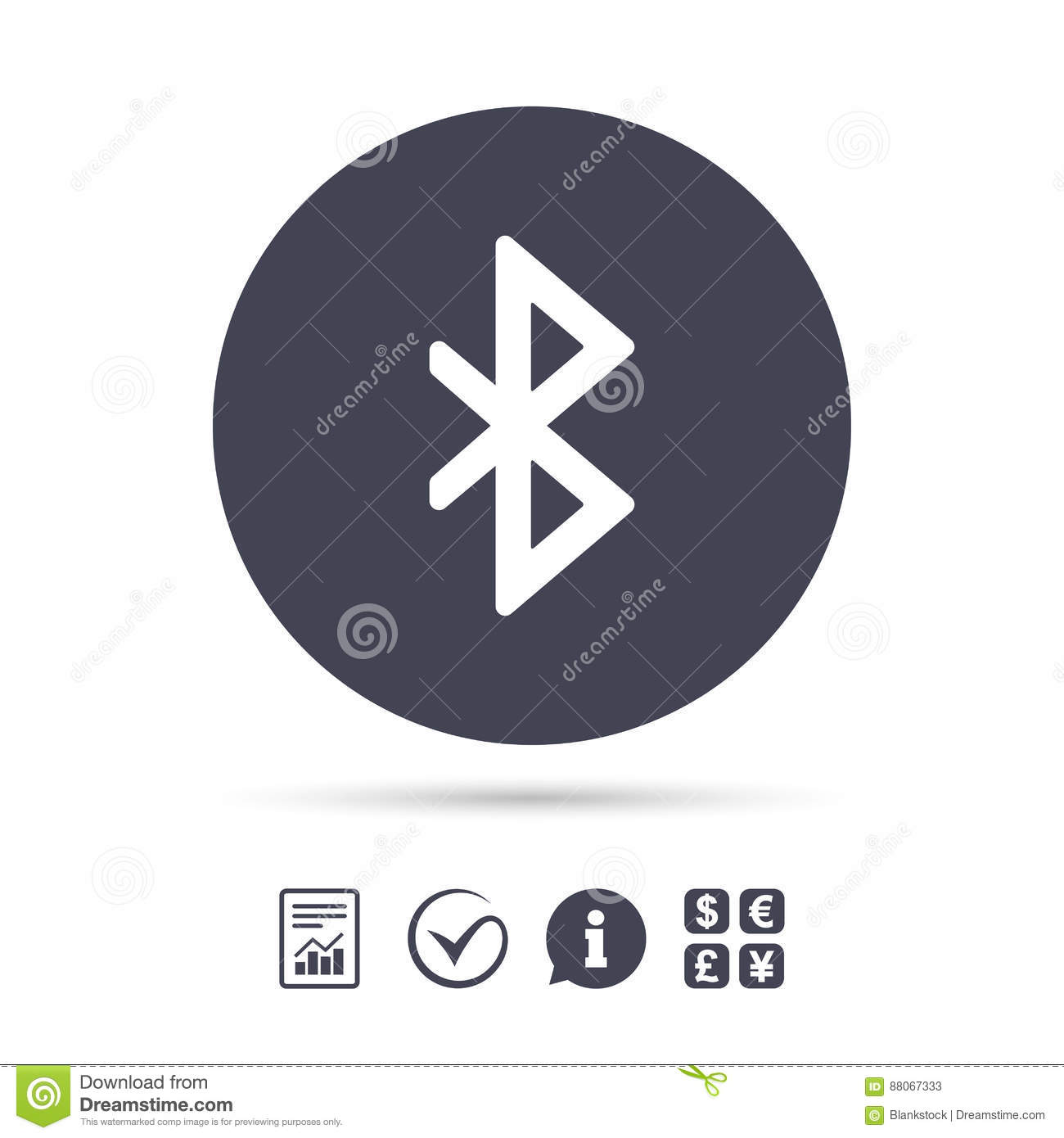 Bluetooth Sign Icon Mobile Network Symbol Editorial Stock Photo