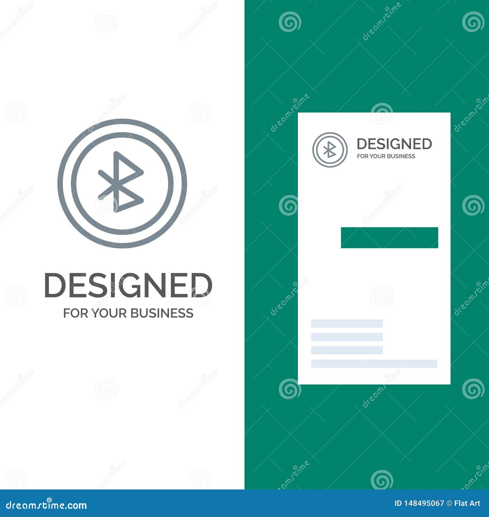 Bluetooth, Ui, interface utilisateurs Grey Logo Design et calibre de carte de visite professionnelle de visite