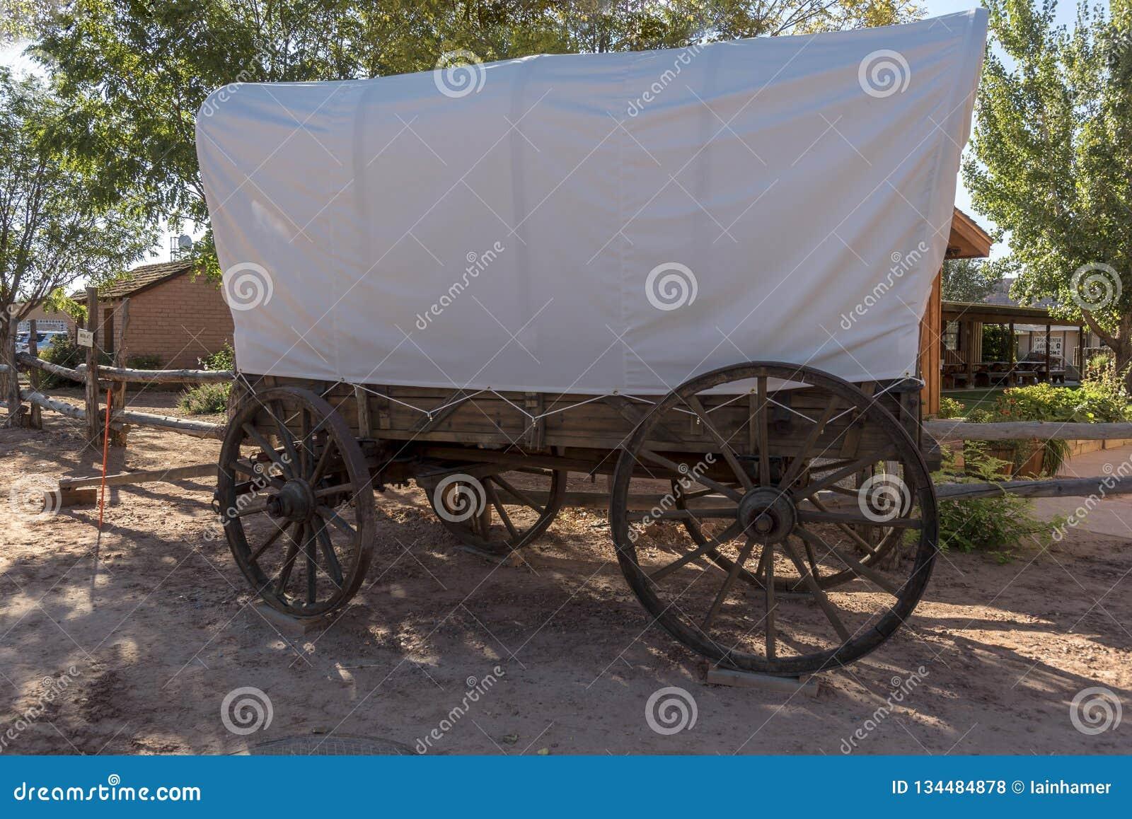 Bluff Utah de centre de visiteur de fort de bluff de chariot couvert