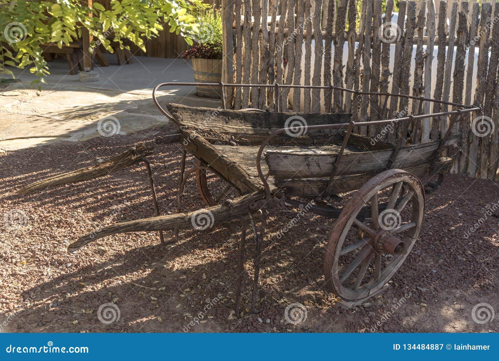 Bluff Utah de centre de visiteur de fort de bluff de chariot de main