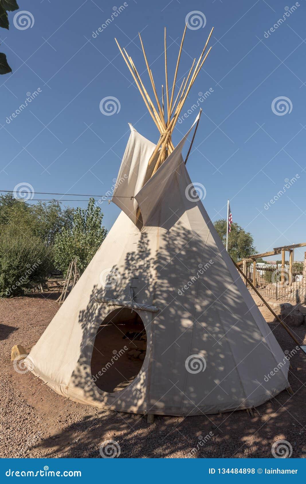 Bluff Utah de centre de visiteur de fort de bluff de tipi