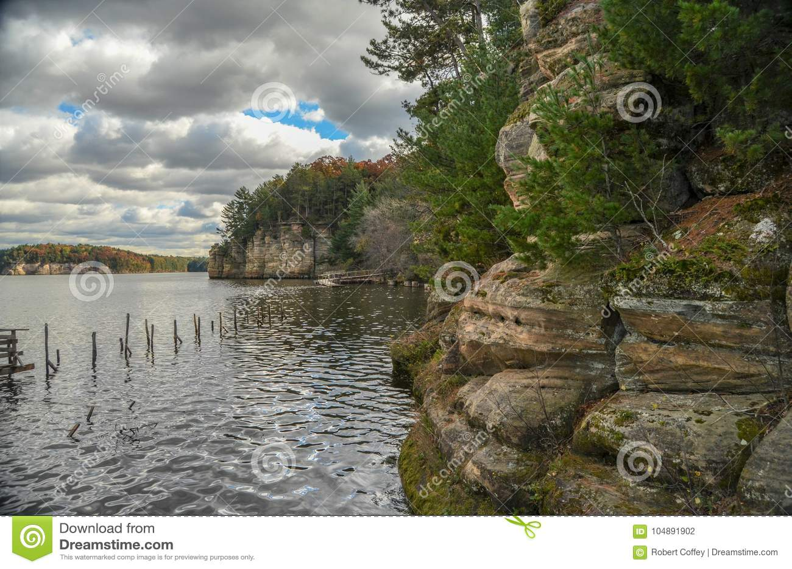 Bluffar på Wisconsinet River