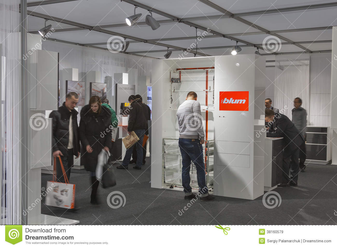 Blum Furniture Accessories Company Booth Editorial Stock