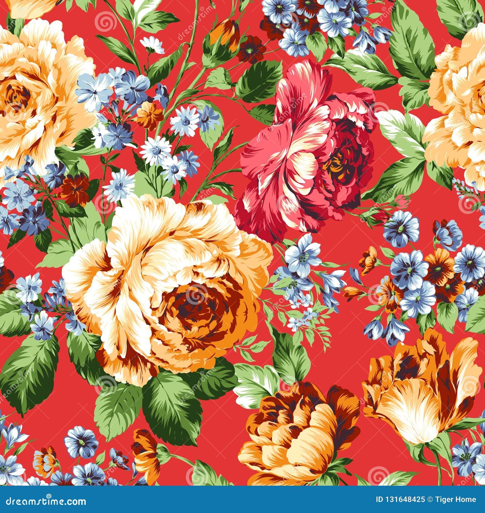 Blume Illustrationsmuster im einfachen Hintergrund