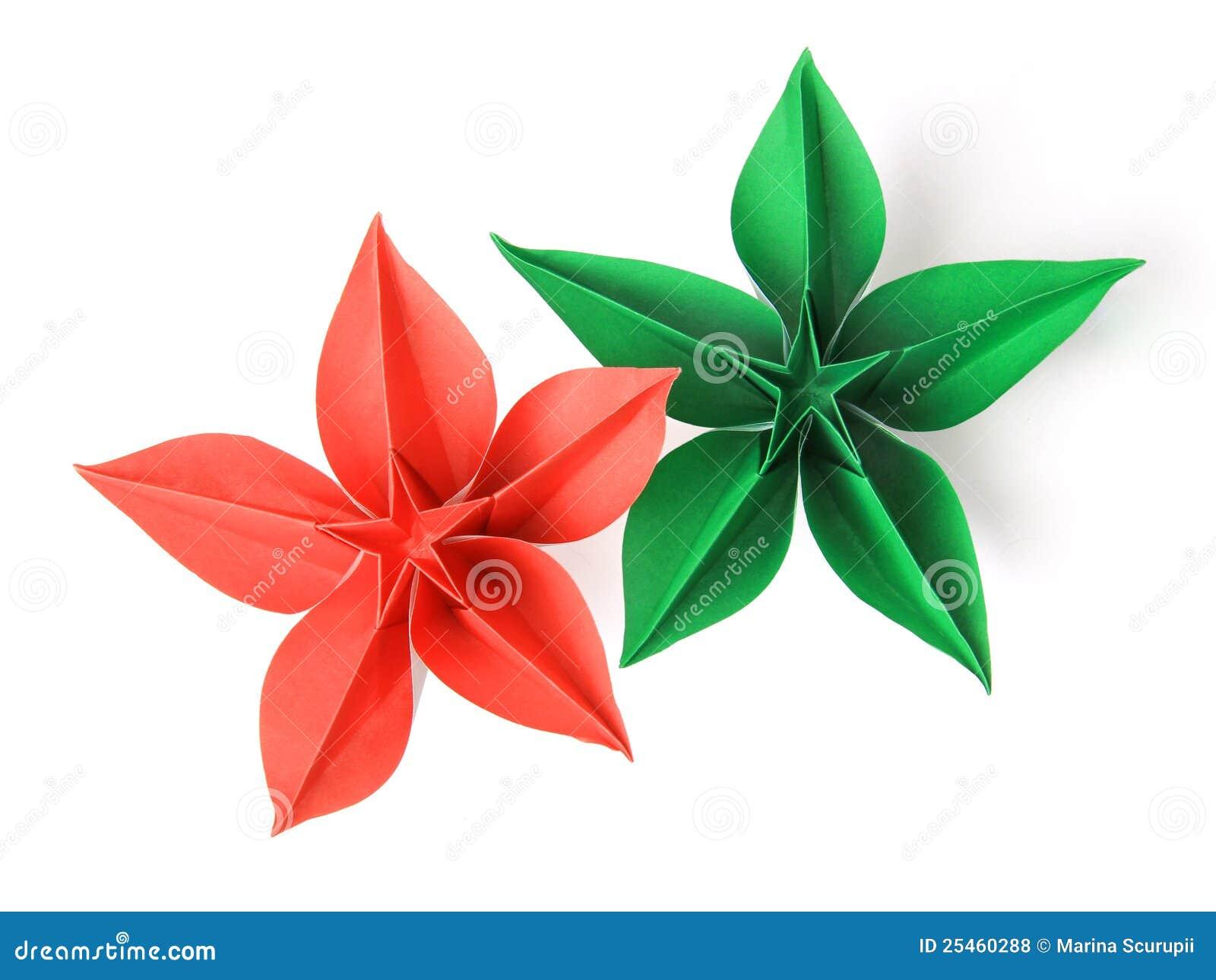 blume origami lizenzfreie stockfotos bild 25460288. Black Bedroom Furniture Sets. Home Design Ideas