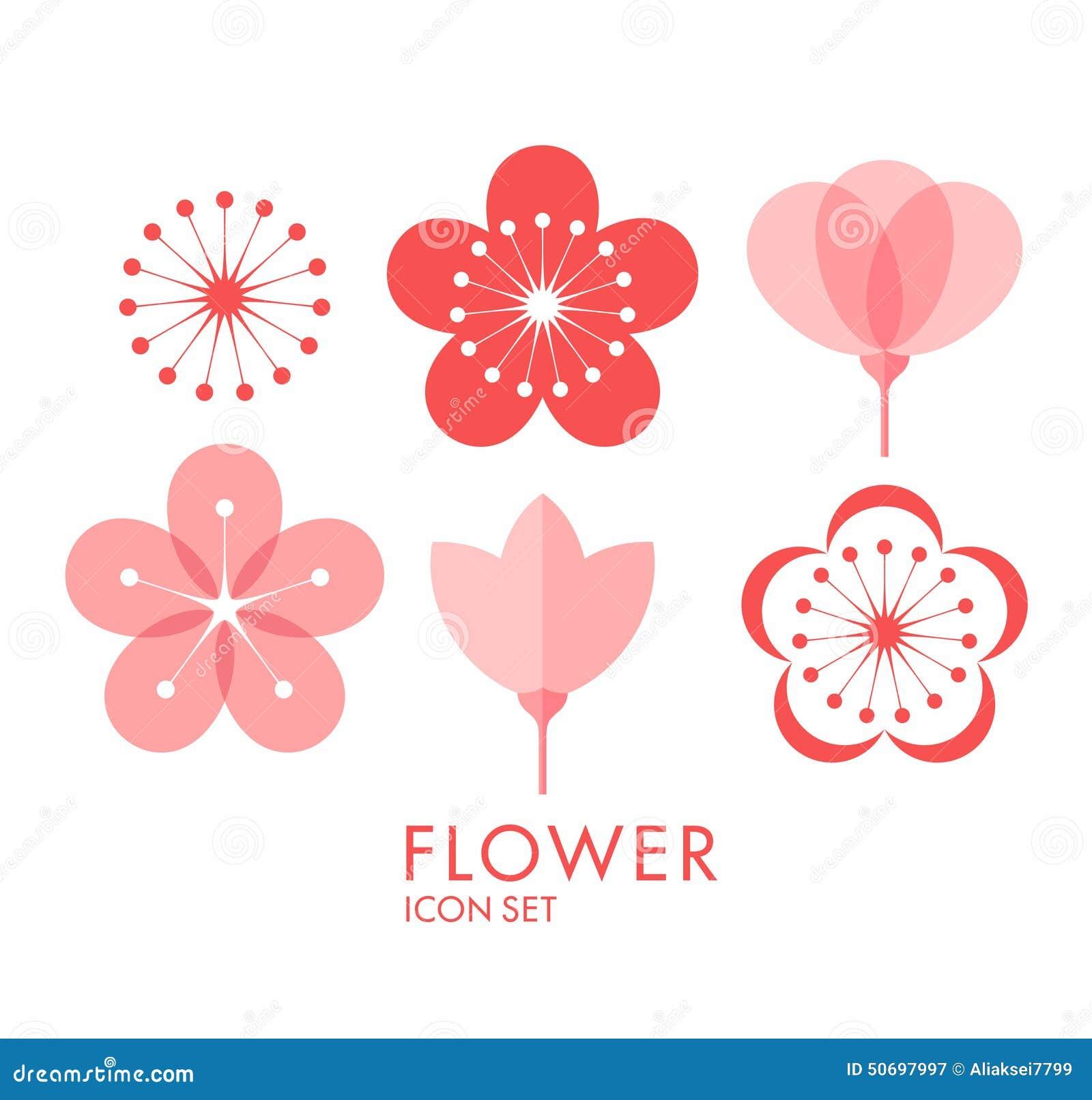 Blume Vektor in CMYK-Modus Kirschblüte