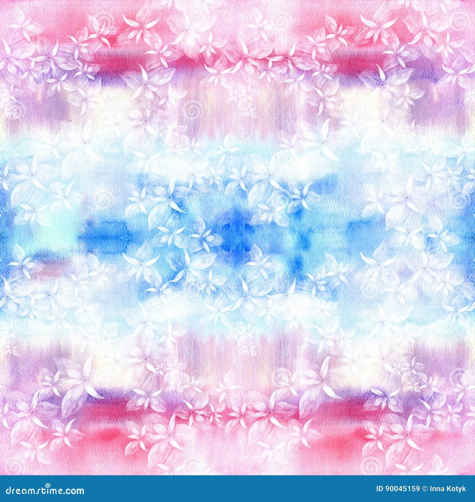 Blumen Abstrakte Tapete Mit Blumenmotiven Nahtloses Muster Tapete