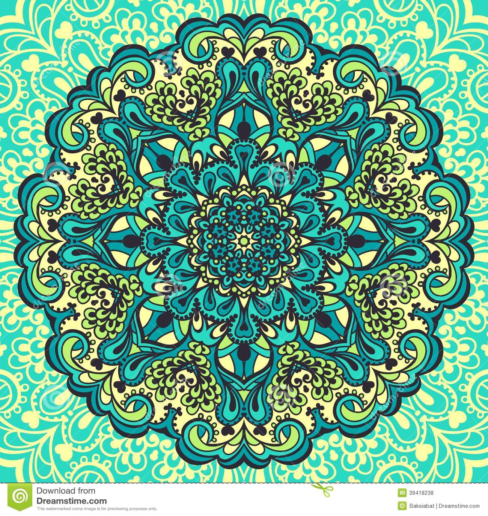 Vektor abbildung blumen mandala abstraktes element für design