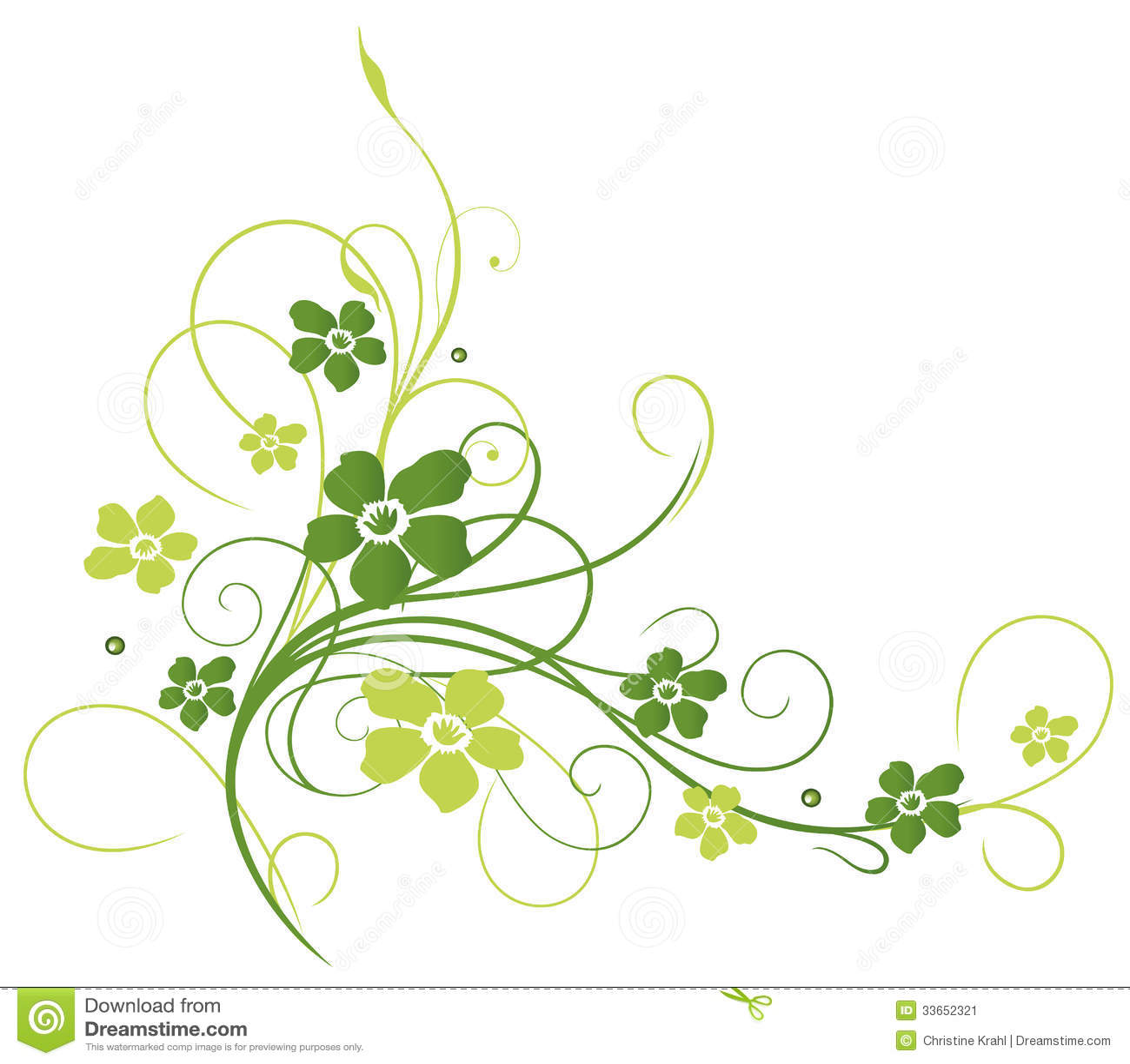 Blumen Ranke Gr 252 N Stockbild Bild 33652321