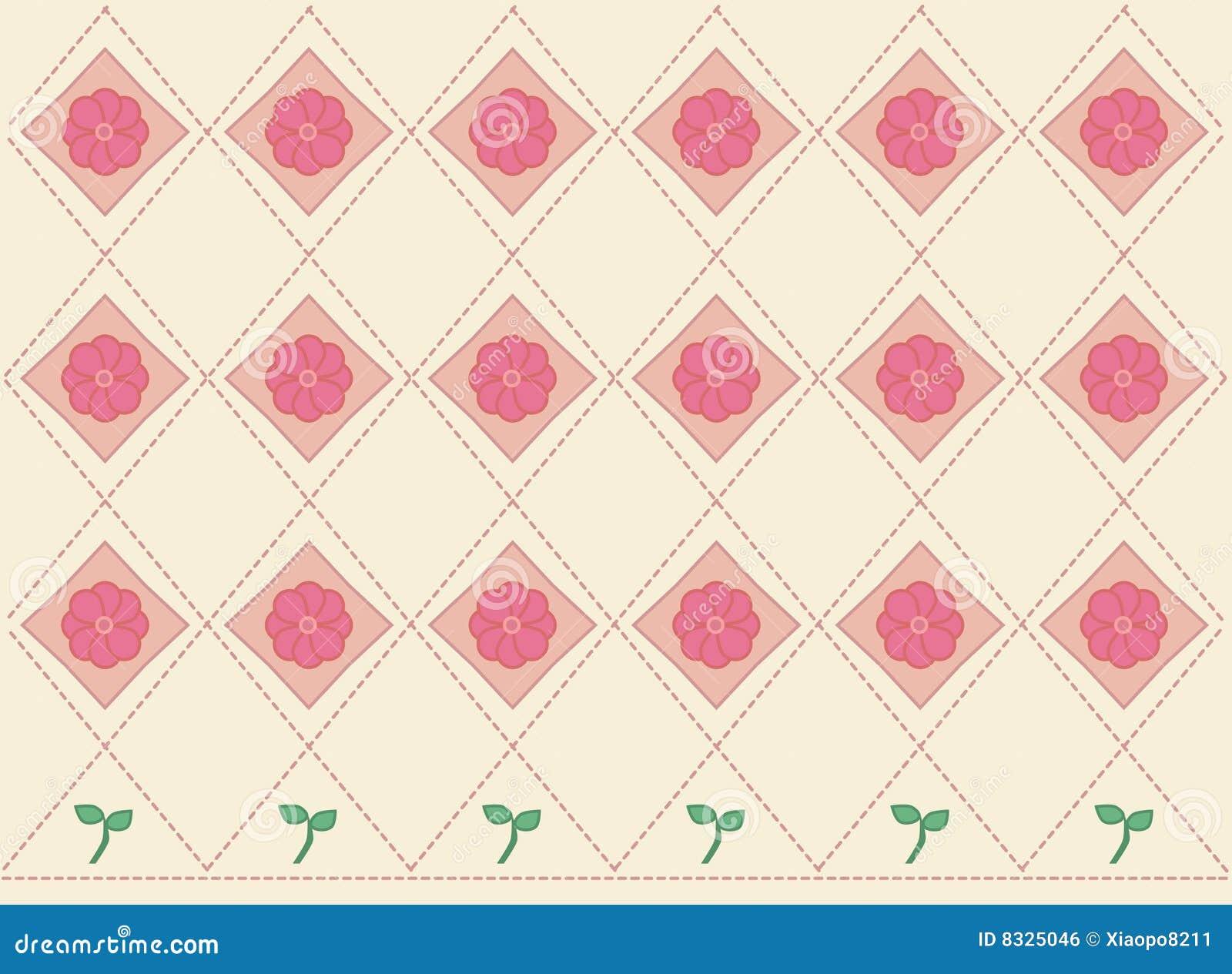 Blumen- u. Blatthintergrund