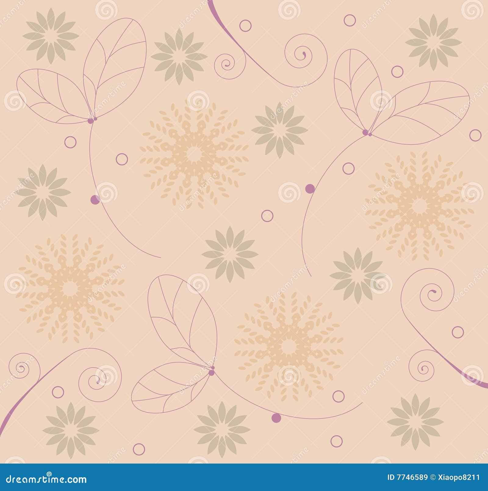 Blumen- u. Blatmuster