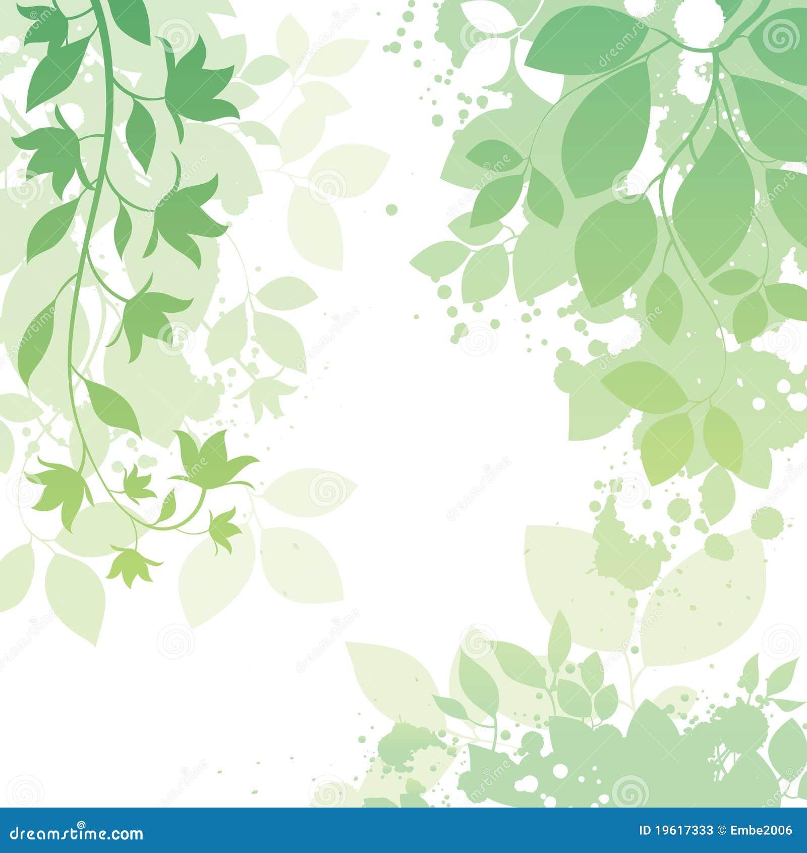 Blumen-und Blatt-Hintergrund