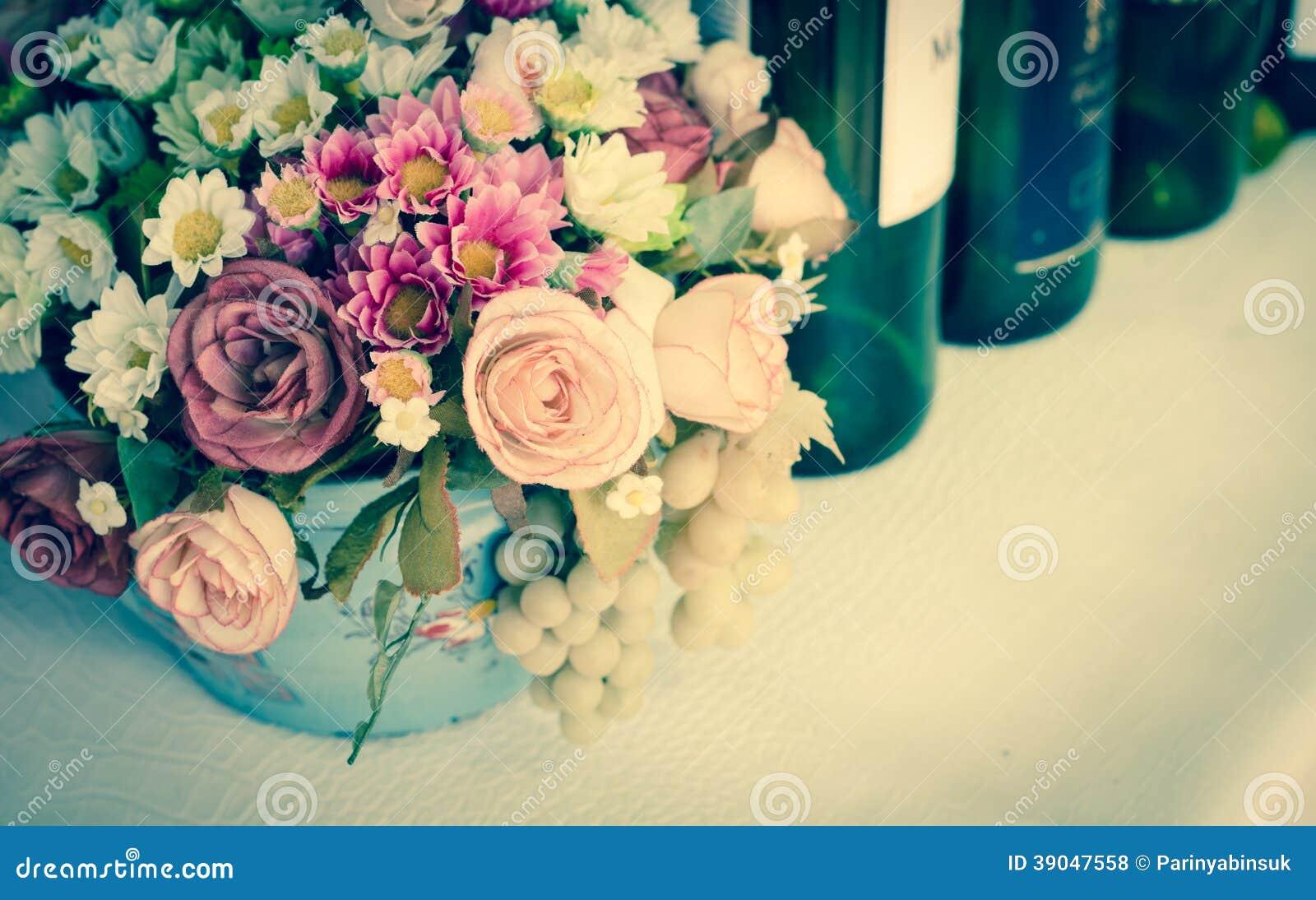 Weinlese-Hochzeitsempfänge