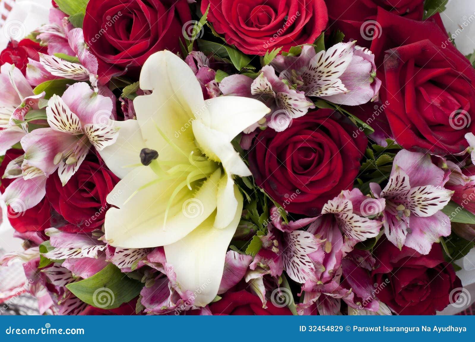 Blumenblumenstraußabschluß oben.
