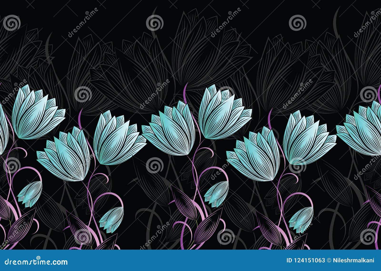 Blumengrenze der nahtlosen Tulpe